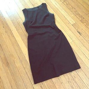 Theory black suit shift dress